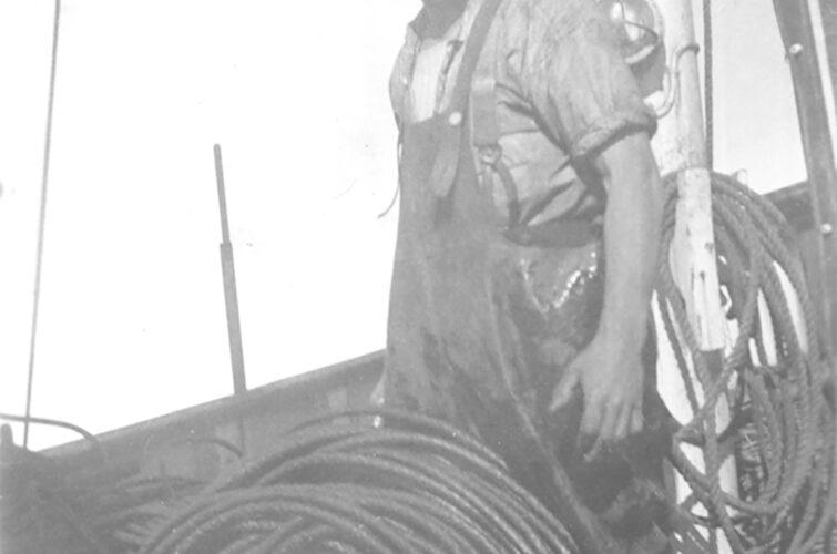 Sømand med reb